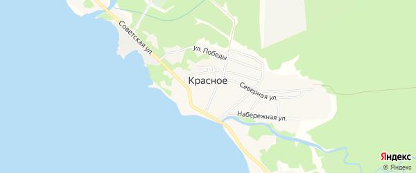 Карта Красного села в Хабаровском крае с улицами и номерами домов