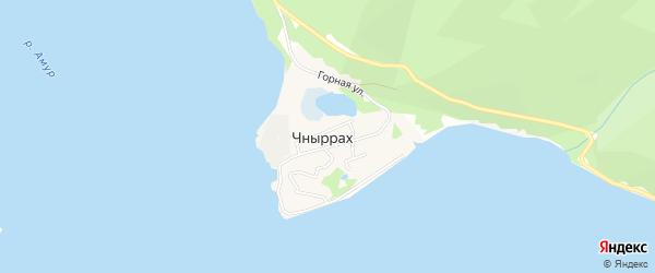 Карта поселка Чныррах в Хабаровском крае с улицами и номерами домов