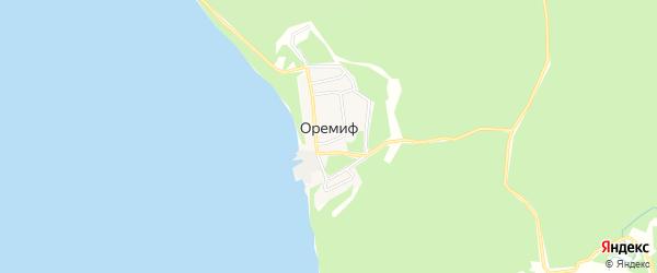 Карта села Оремифа в Хабаровском крае с улицами и номерами домов