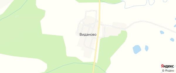 Карта села Виданово в Хабаровском крае с улицами и номерами домов