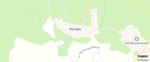 Карта села Нигиря в Хабаровском крае с улицами и номерами домов