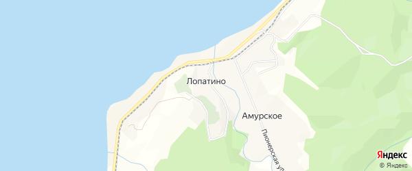 Карта села Лопатино в Сахалинской области с улицами и номерами домов