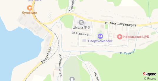 Речная улица в Невельске с номерами домов на карте. Спутник и схема онлайн