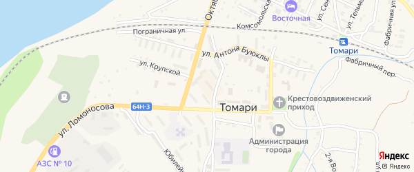 Полевая улица на карте Томари с номерами домов
