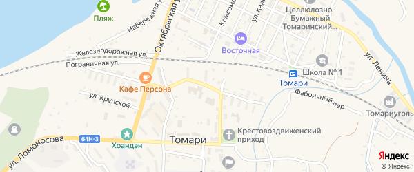 Улица Антона Буюклы на карте Томари с номерами домов