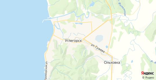 Карта Углегорска с улицами и домами подробная. Показать со спутника номера домов онлайн