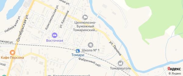 Базарная улица на карте Томари с номерами домов