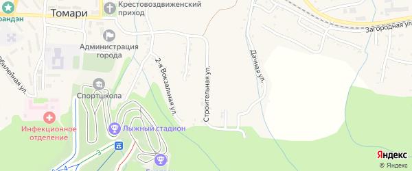 Строительная улица на карте Томари с номерами домов