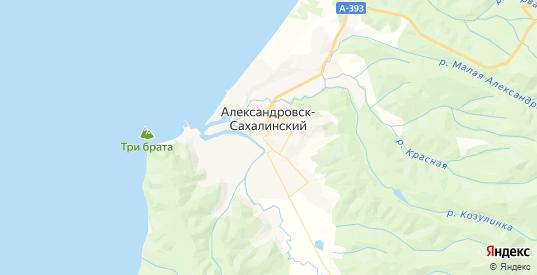 Карта Александровска-Сахалинского с улицами и домами подробная. Показать со спутника номера домов онлайн
