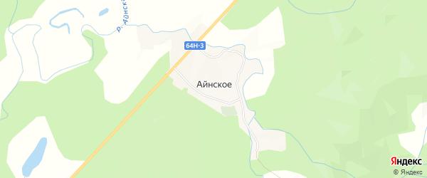 Карта Айнского села в Сахалинской области с улицами и номерами домов