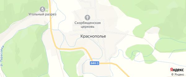 Карта села Краснополья в Сахалинской области с улицами и номерами домов