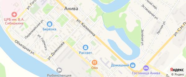 Улица Чехова на карте Анивы с номерами домов