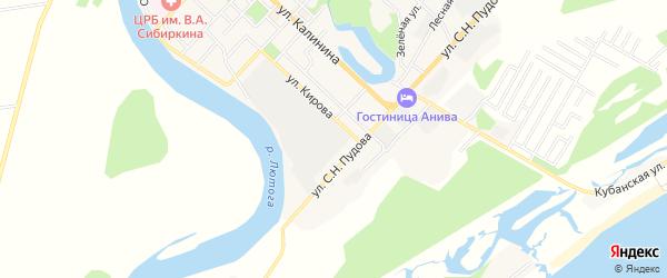 Территория ГСК ГСК N 35 на карте Анивы с номерами домов