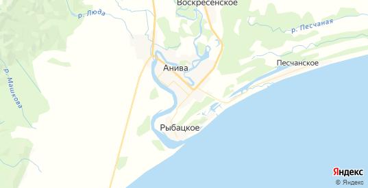 Карта Анивы с улицами и домами подробная. Показать со спутника номера домов онлайн