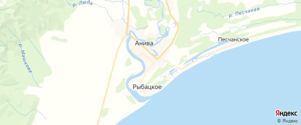 Карта Анивы с районами, улицами и номерами домов: Анива на карте России