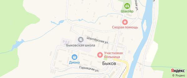 Шахтерская улица на карте села Быкова Сахалинской области с номерами домов