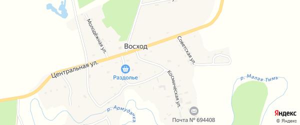 Улица Павлика Морозова на карте села Восхода Сахалинской области с номерами домов
