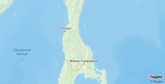 Карта Долинского района Сахалинской области с городами и населенными пунктами