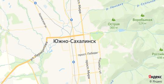 Карта Южно-Сахалинска с улицами и домами подробная. Показать со спутника номера домов онлайн