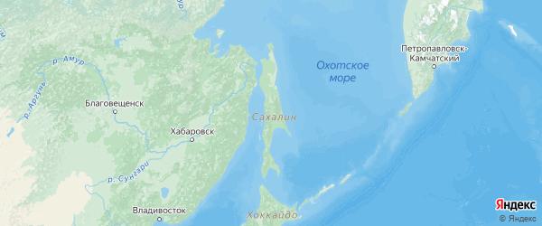 Карта Сахалинской области с городами и районами
