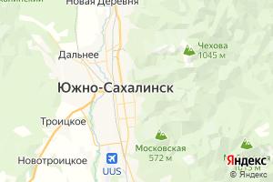 Карта г. Южно-Сахалинск Сахалинская область