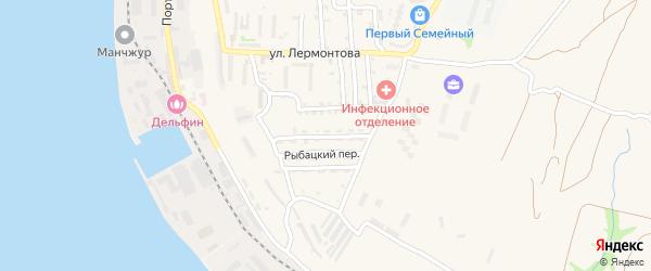 Путинная улица на карте Корсакова с номерами домов
