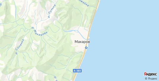Карта Макарова с улицами и домами подробная. Показать со спутника номера домов онлайн