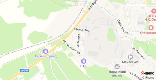 Улица Гоголя в Долинске с номерами домов на карте. Спутник и схема онлайн