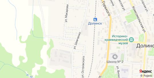 Улица Шевченко в Долинске с номерами домов на карте. Спутник и схема онлайн