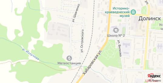 Улица Островского в Долинске с номерами домов на карте. Спутник и схема онлайн