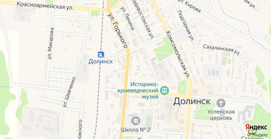Камчатский переулок в Долинске с номерами домов на карте. Спутник и схема онлайн