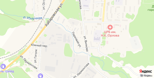 Парковая улица в Долинске с номерами домов на карте. Спутник и схема онлайн