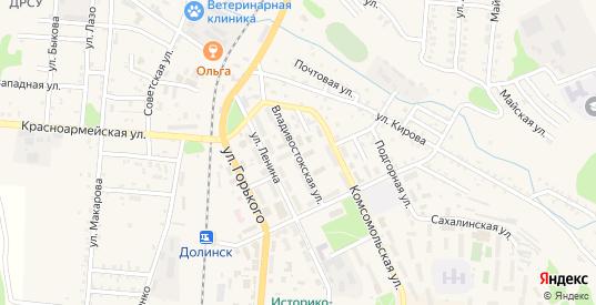Владивостокская улица в Долинске с номерами домов на карте. Спутник и схема онлайн