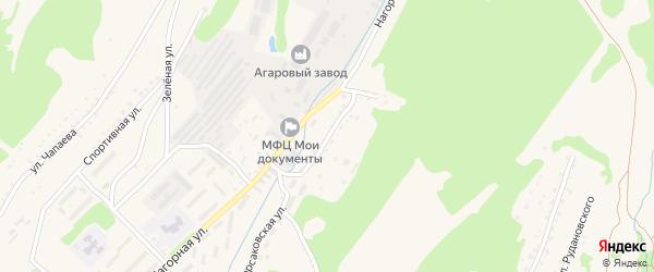 Нагорный переулок на карте Корсакова с номерами домов
