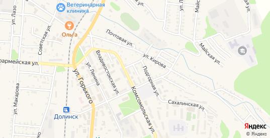 Краснофлотская улица в Долинске с номерами домов на карте. Спутник и схема онлайн