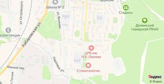 Улица Севастьянова в Долинске с номерами домов на карте. Спутник и схема онлайн