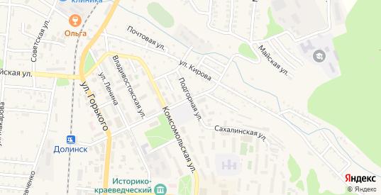 Подгорная улица в Долинске с номерами домов на карте. Спутник и схема онлайн