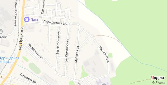 Подмосковная улица в Долинске с номерами домов на карте. Спутник и схема онлайн