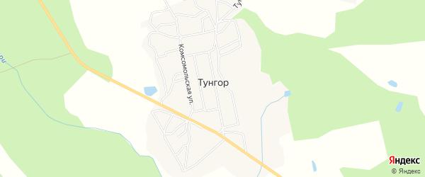 Карта села Тунгора в Сахалинской области с улицами и номерами домов