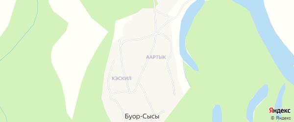 Карта села Буора-Сысы в Якутии с улицами и номерами домов