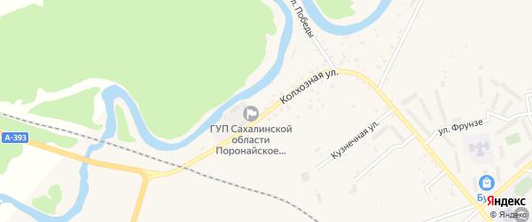 Колхозная улица на карте Поронайска с номерами домов