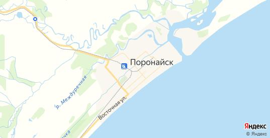 Карта Поронайска с улицами и домами подробная. Показать со спутника номера домов онлайн