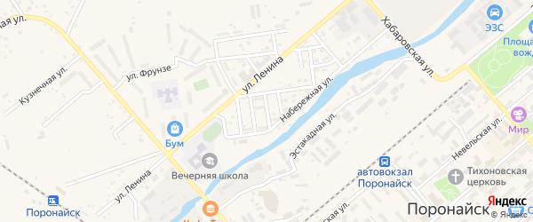 Грузинский переулок на карте Поронайска с номерами домов