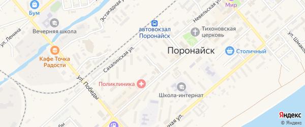 Саперная улица на карте Поронайска с номерами домов