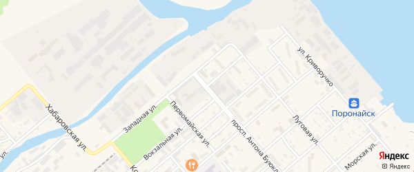 Лесопильная улица на карте Поронайска с номерами домов
