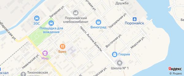 Проспект Антона Буюклы на карте Поронайска с номерами домов