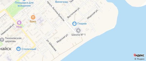 Морская улица на карте Поронайска с номерами домов