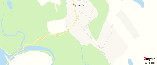 Карта села Суона-Тита в Якутии с улицами и номерами домов