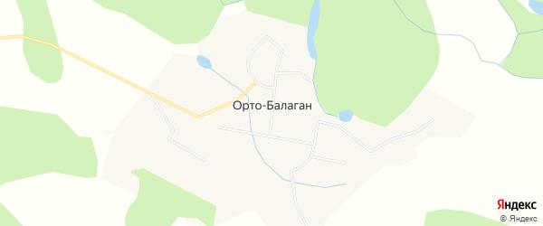 Карта села Орто-Балагана в Якутии с улицами и номерами домов