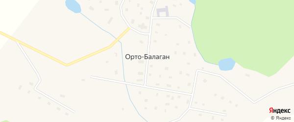 Таежная улица на карте села Орто-Балагана Якутии с номерами домов
